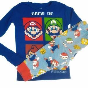 Super Mario Game On Night Sleepwear Pajama Set